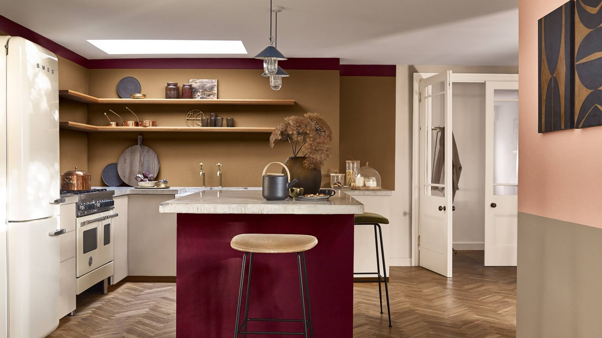 color combination for small kitchen