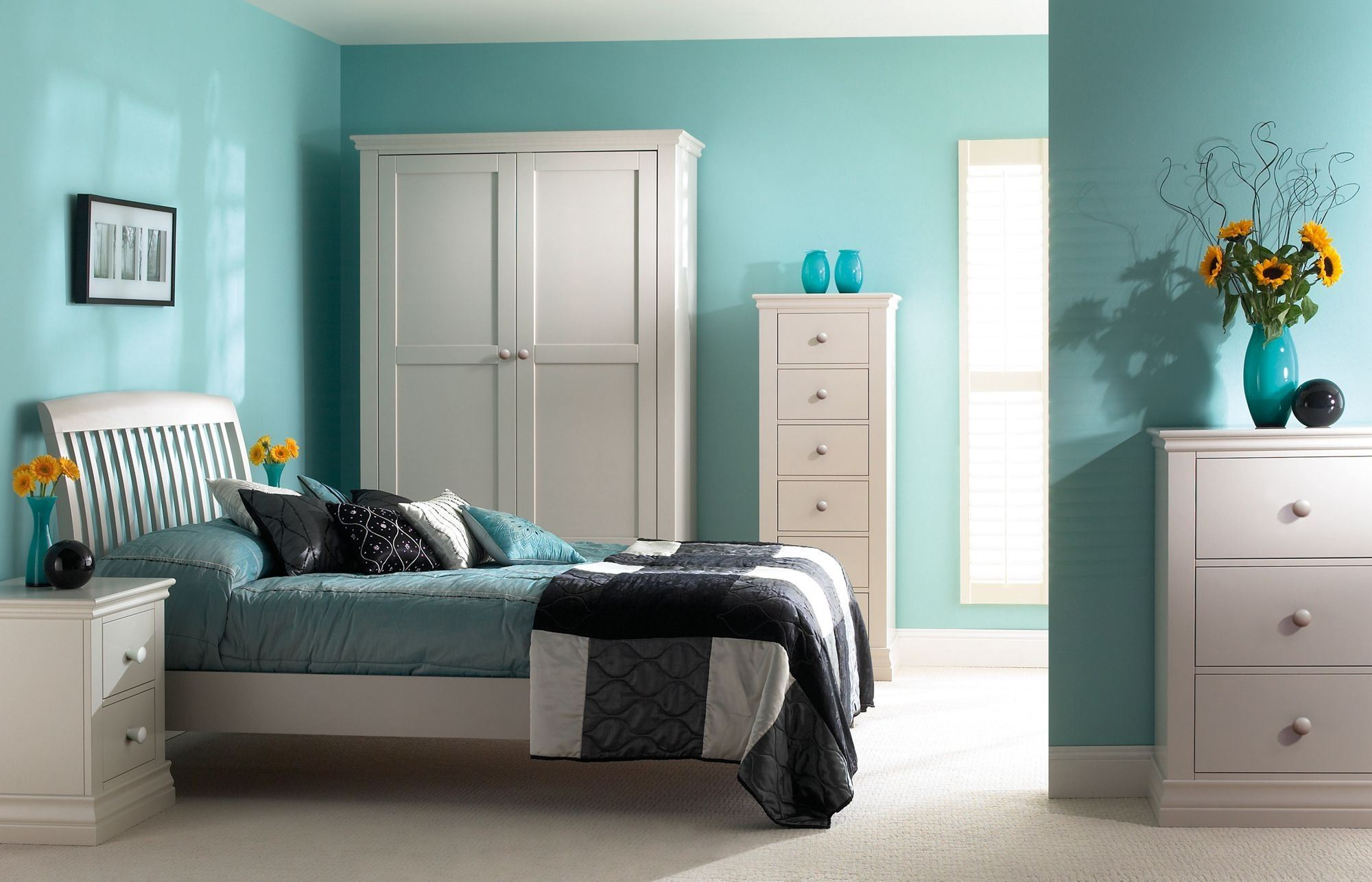 soothing colored bedroom