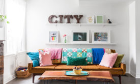 Living room decor wall