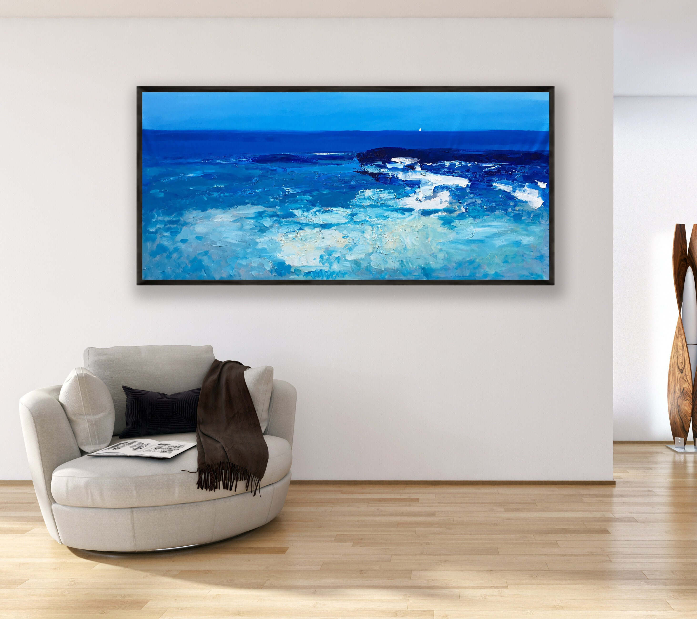 ocean blue wall art