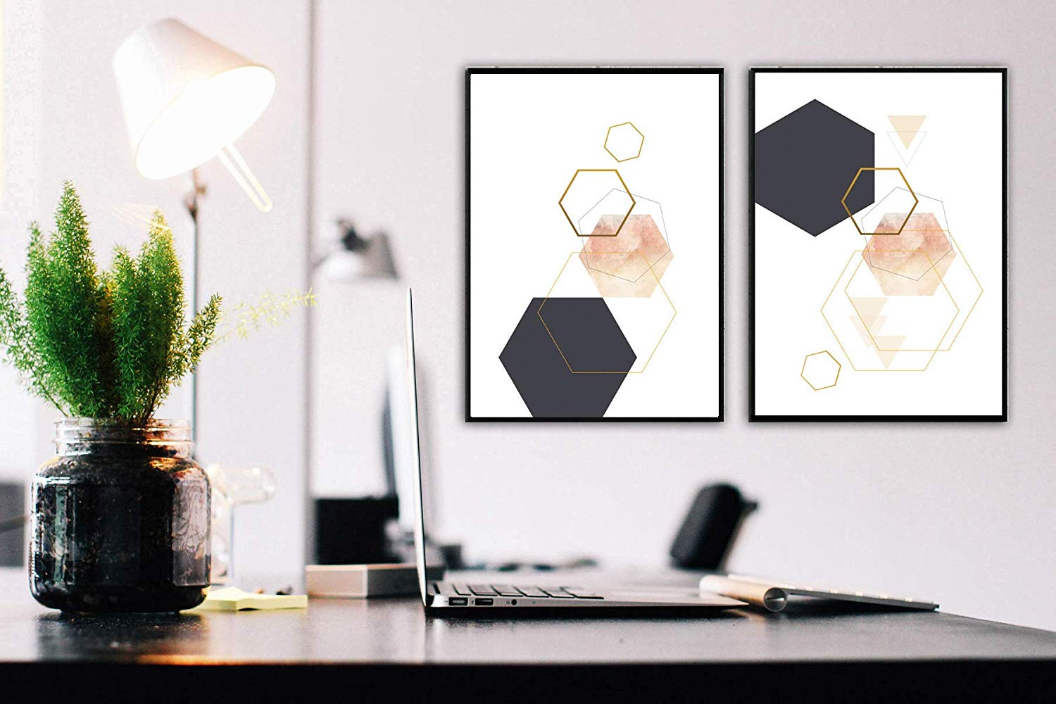 diptych style art for living room