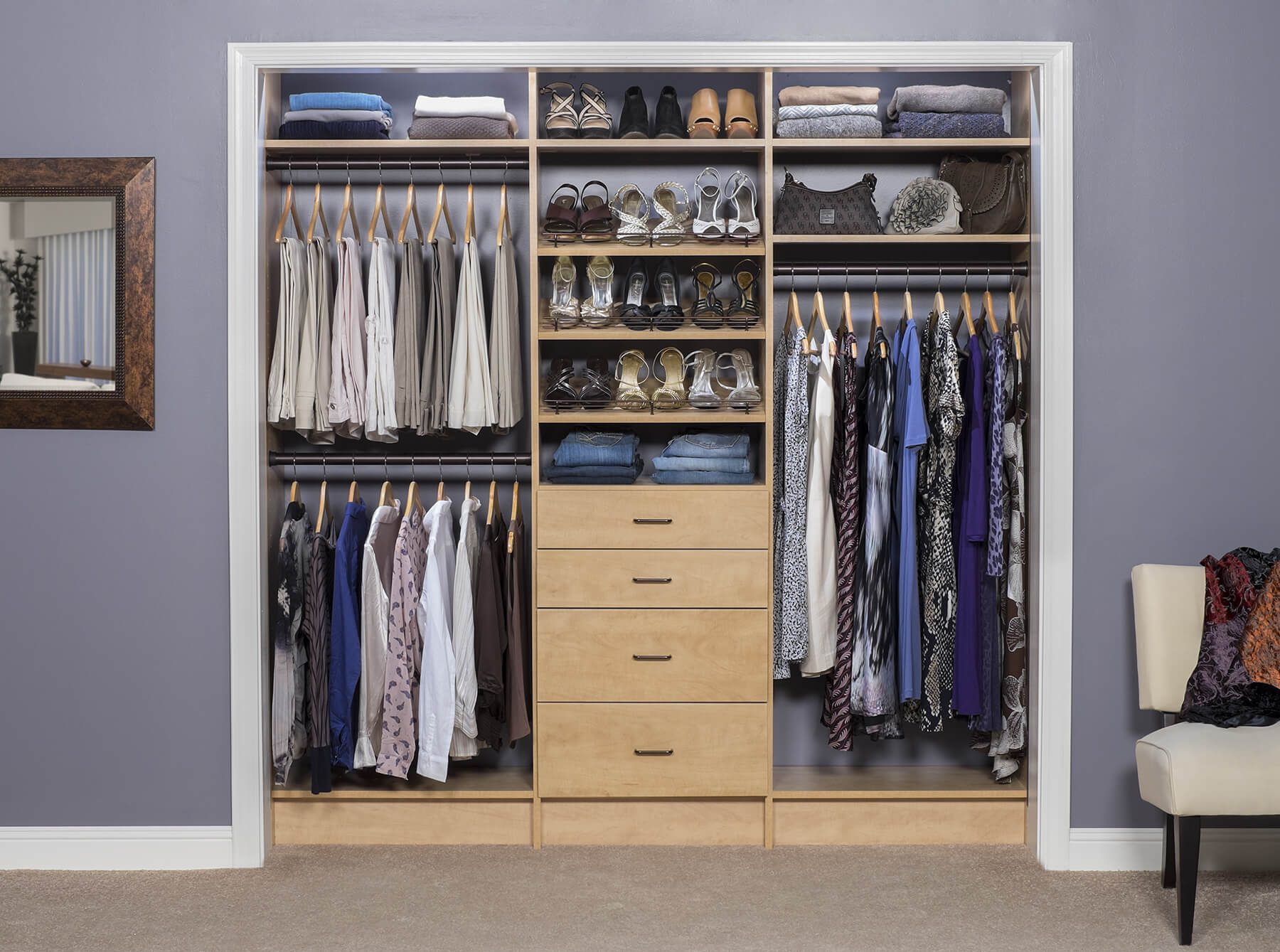 bedroom wall closet
