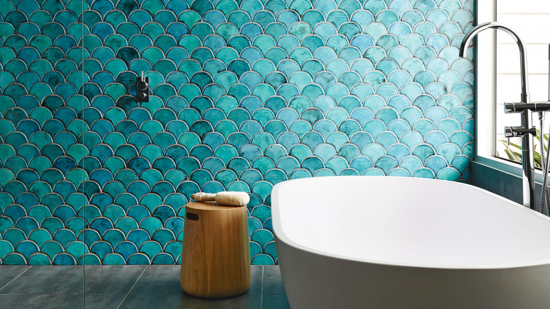 fish design tiles for bathroom