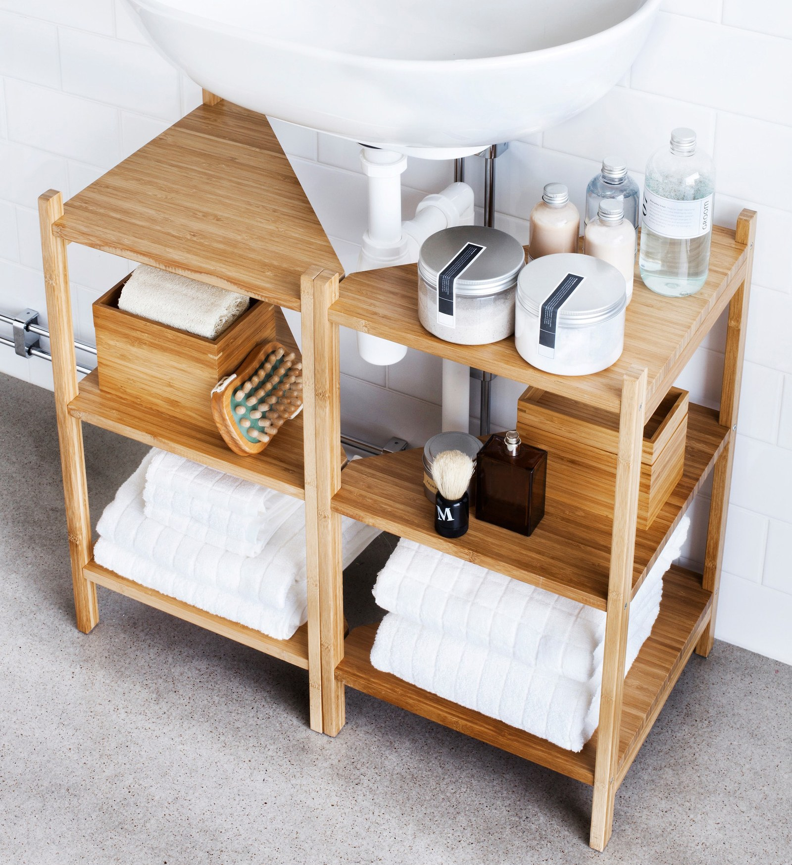 racks or shelves for bathroom