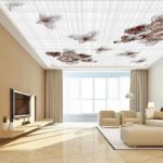 wallpaper on false ceiling