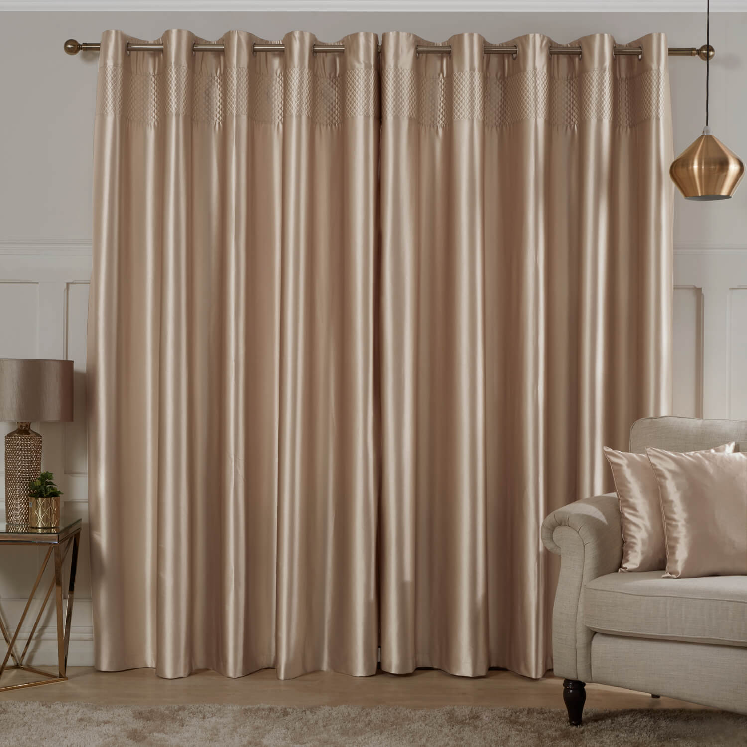 silk living room curtains