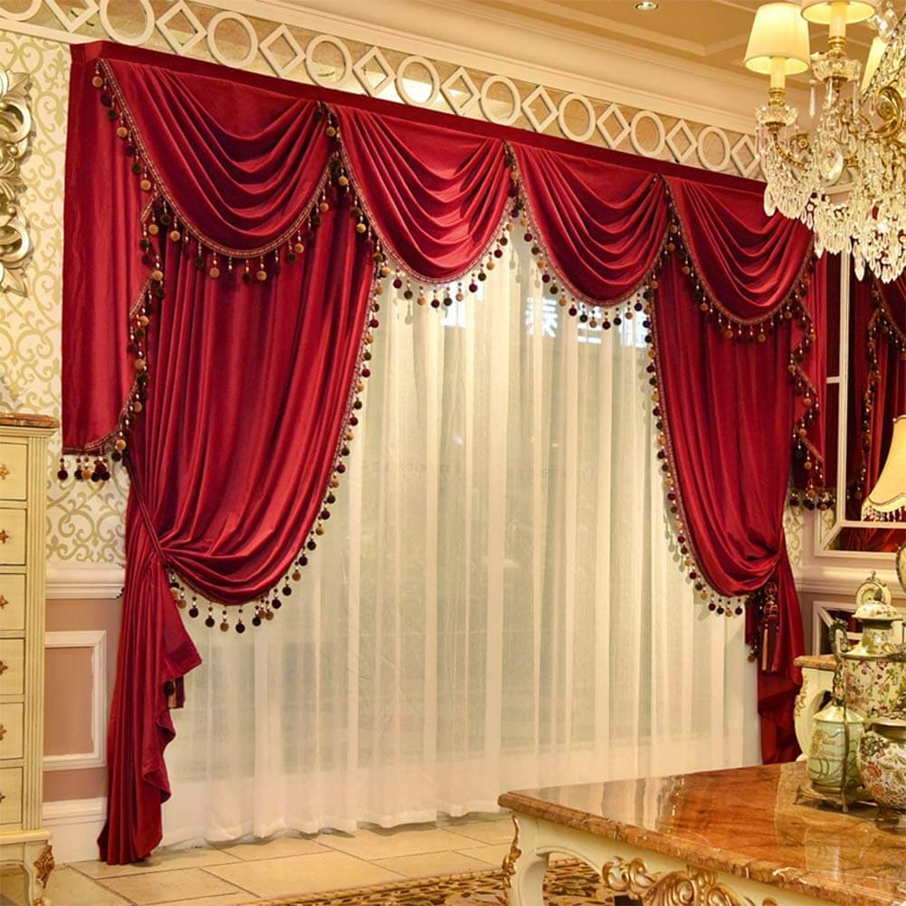 velvet curtain for living room