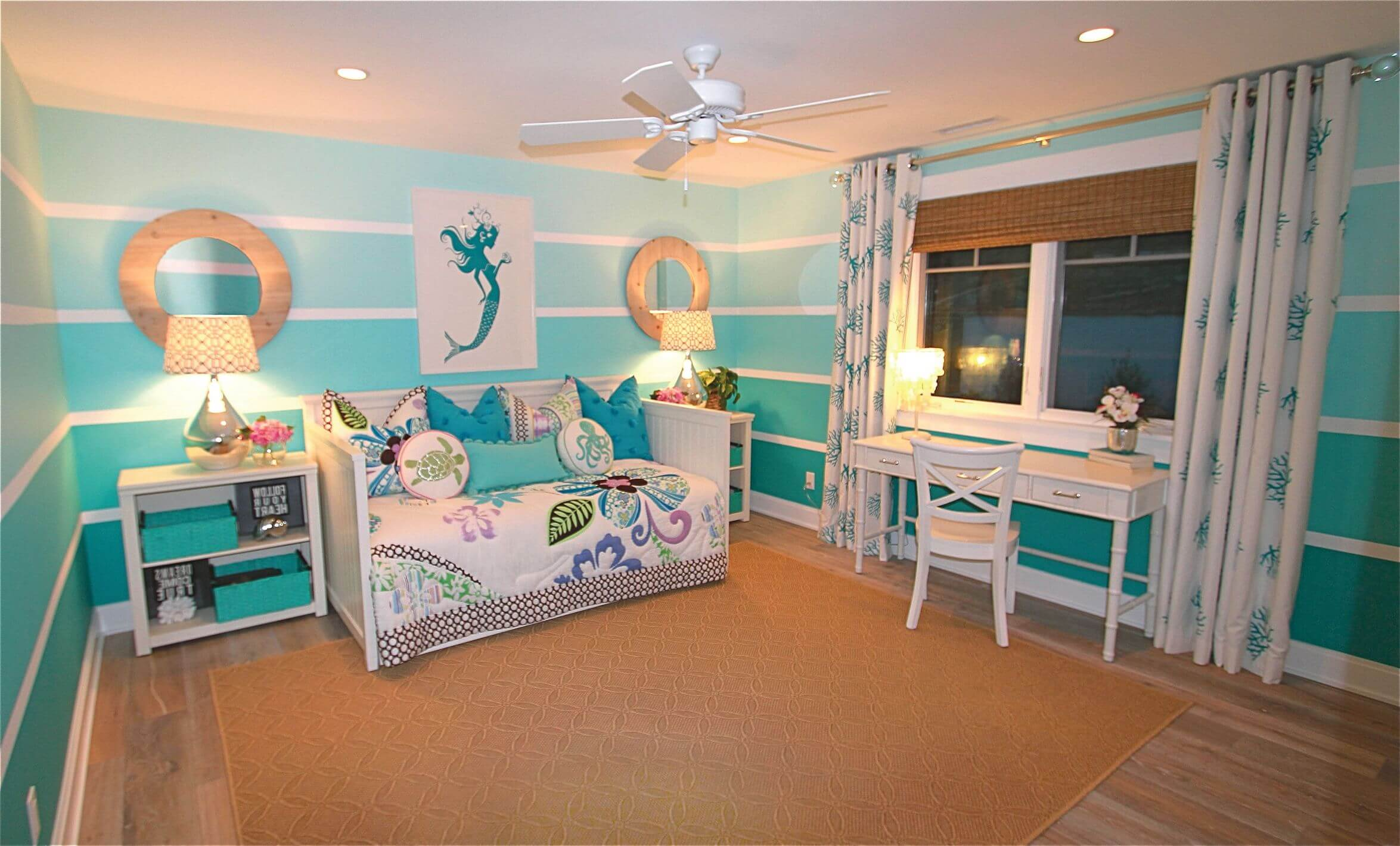 turquoise bedroom Wall Decors