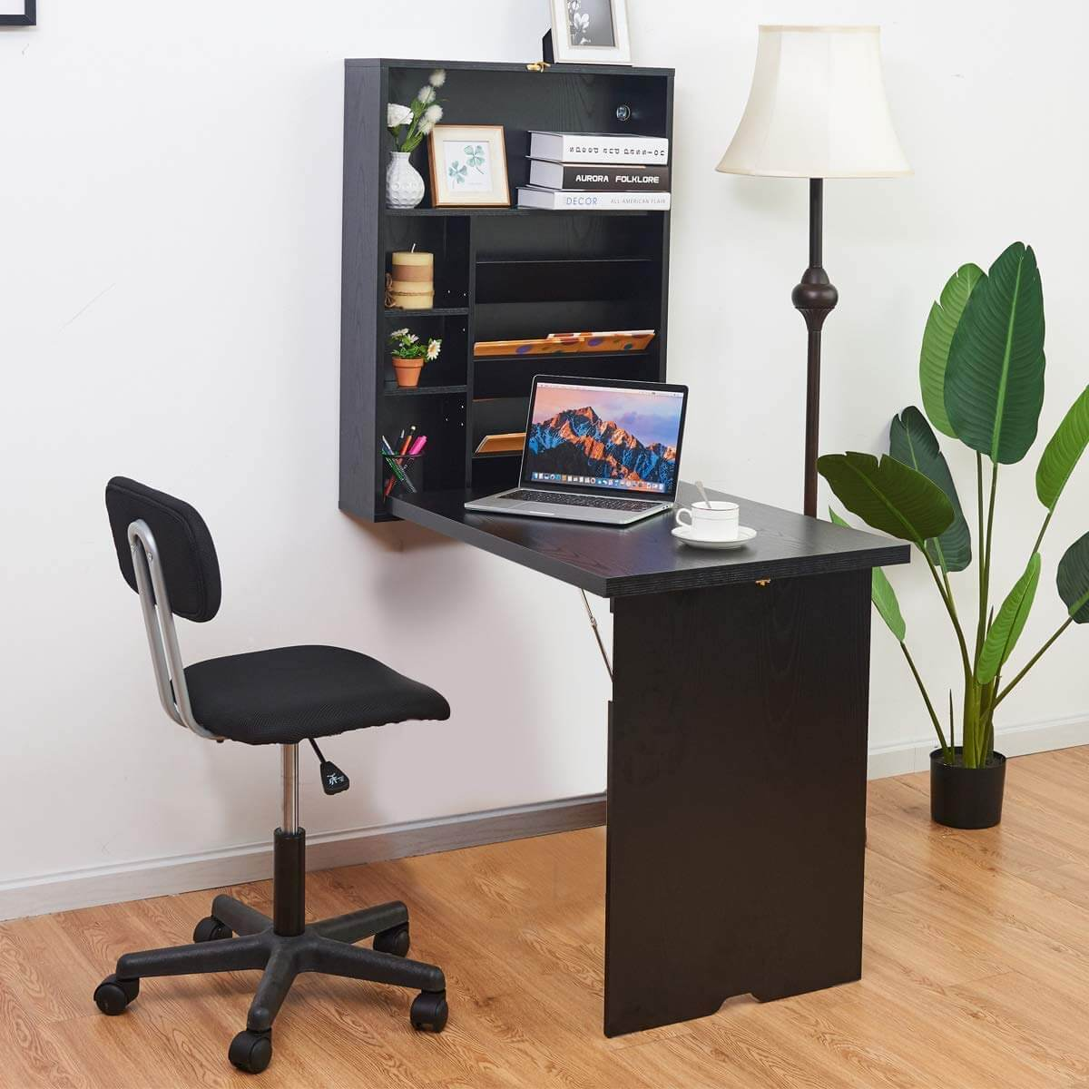 wall-mounted desks