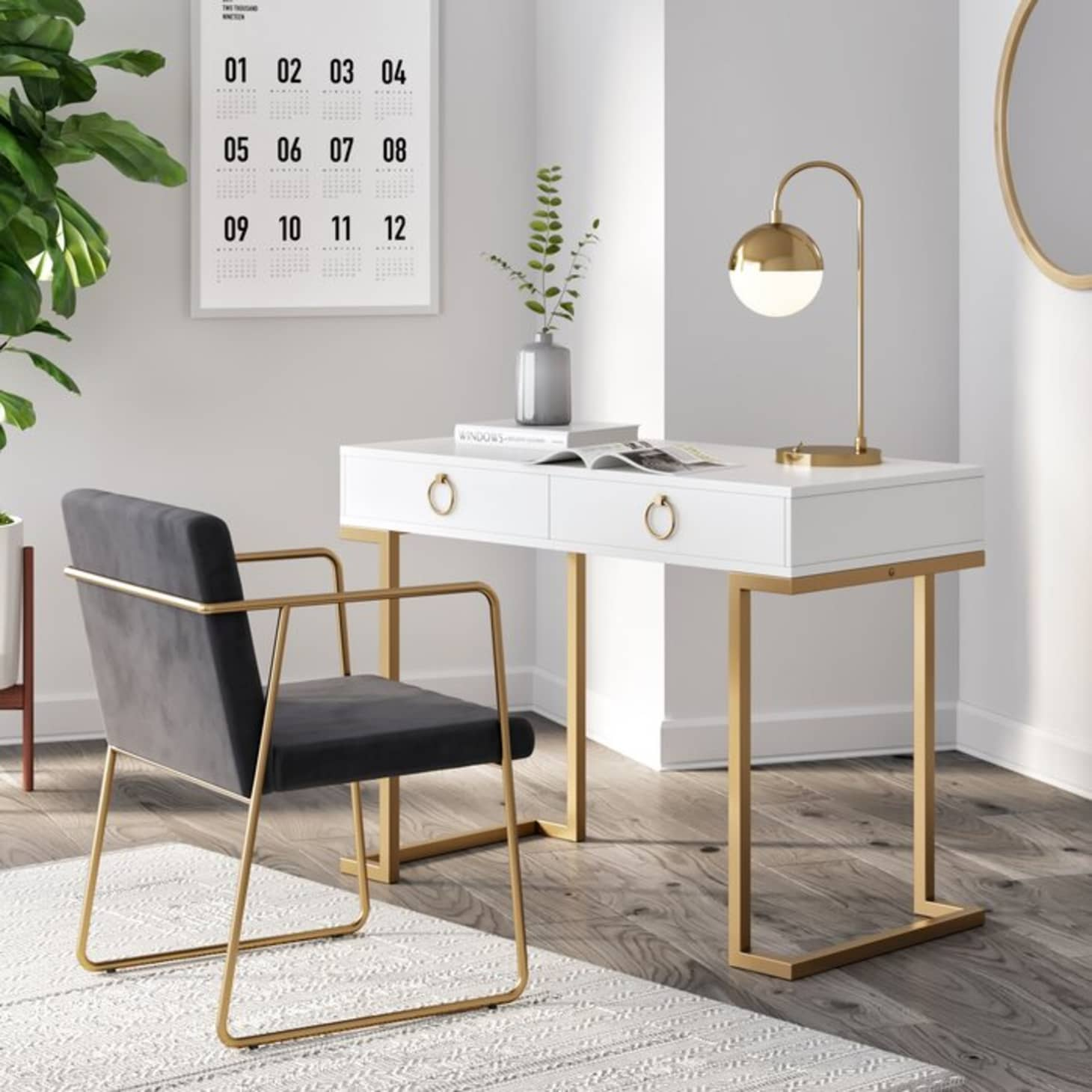 Image of: 30 Trendy Desks For Small Spaces In 2020 That You Ll Love
