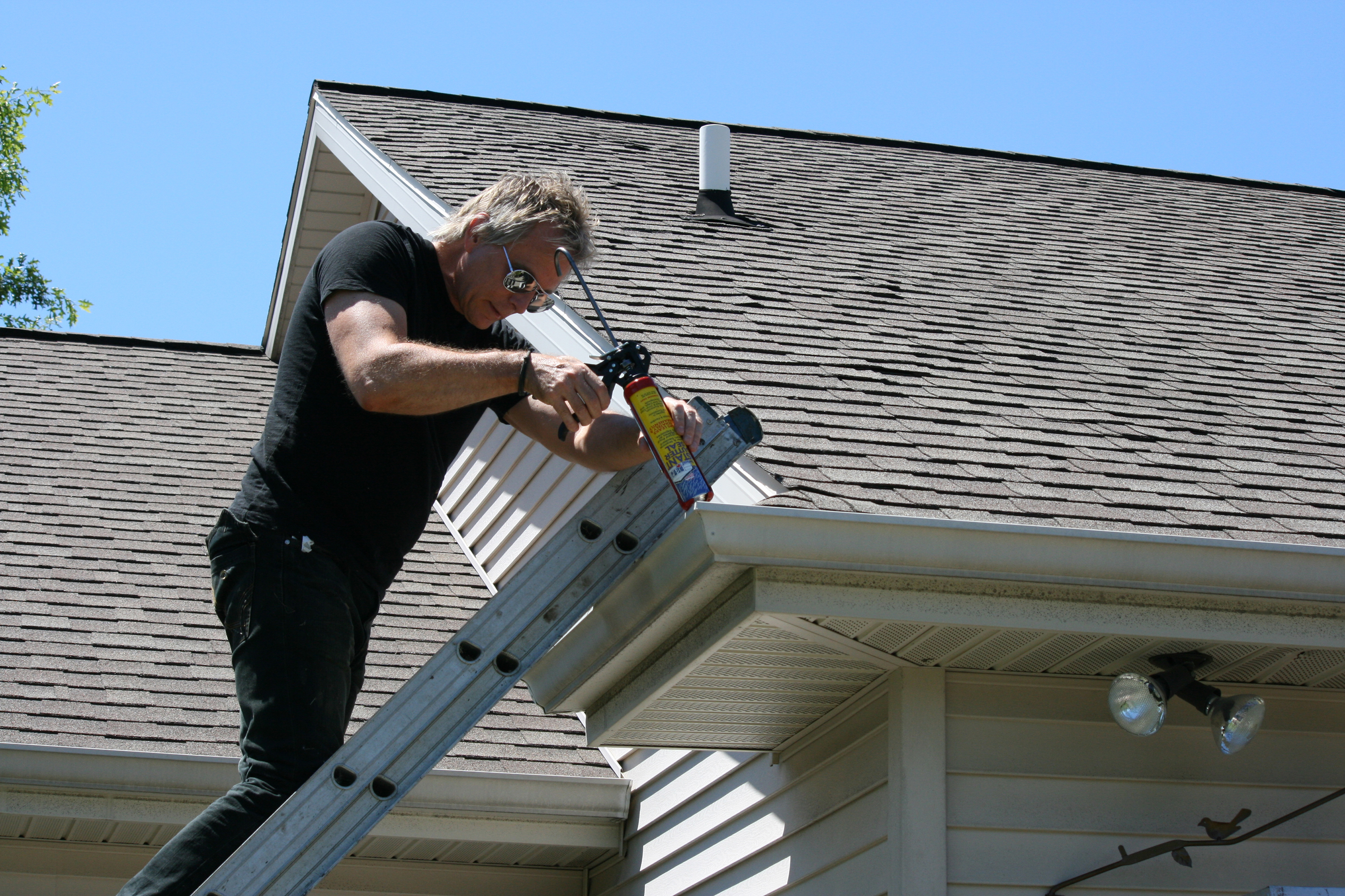 repair or replace the gutters