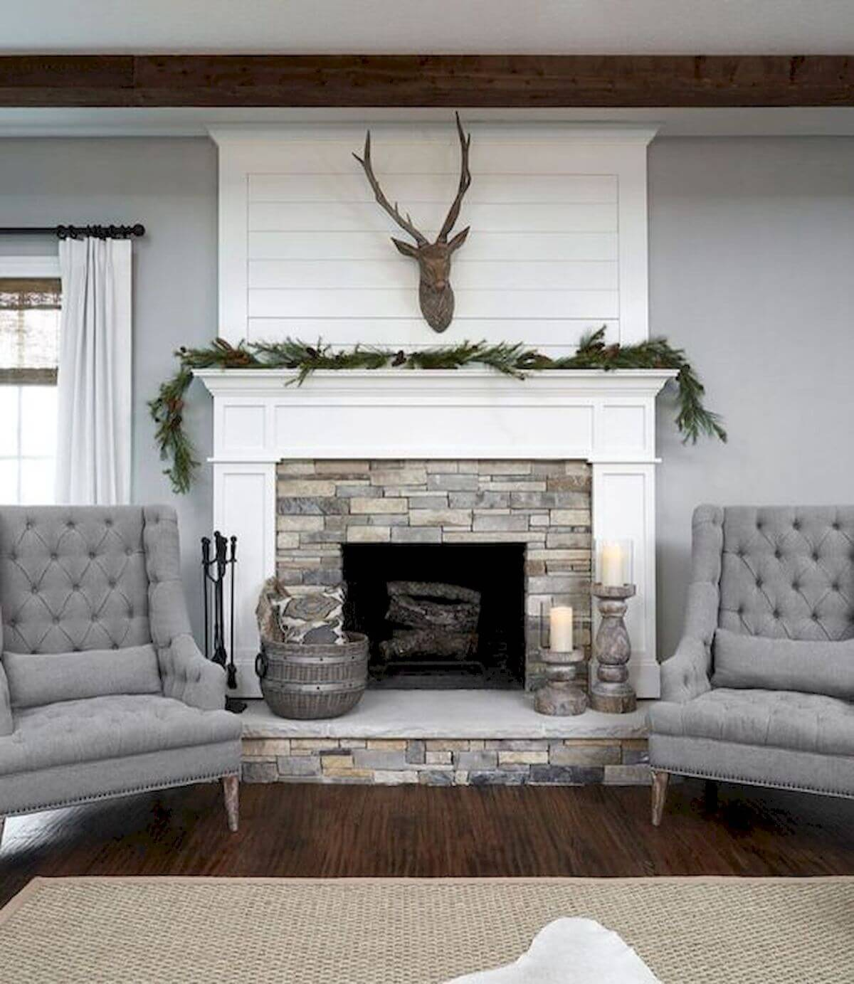 Antler on the mantel