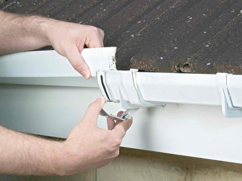 Mount and Secure the Gutter on Brackets