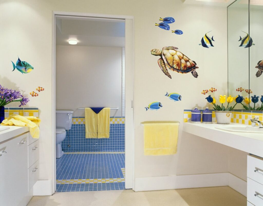 Coastal Beach Theme Decor Ideas for Bathroom