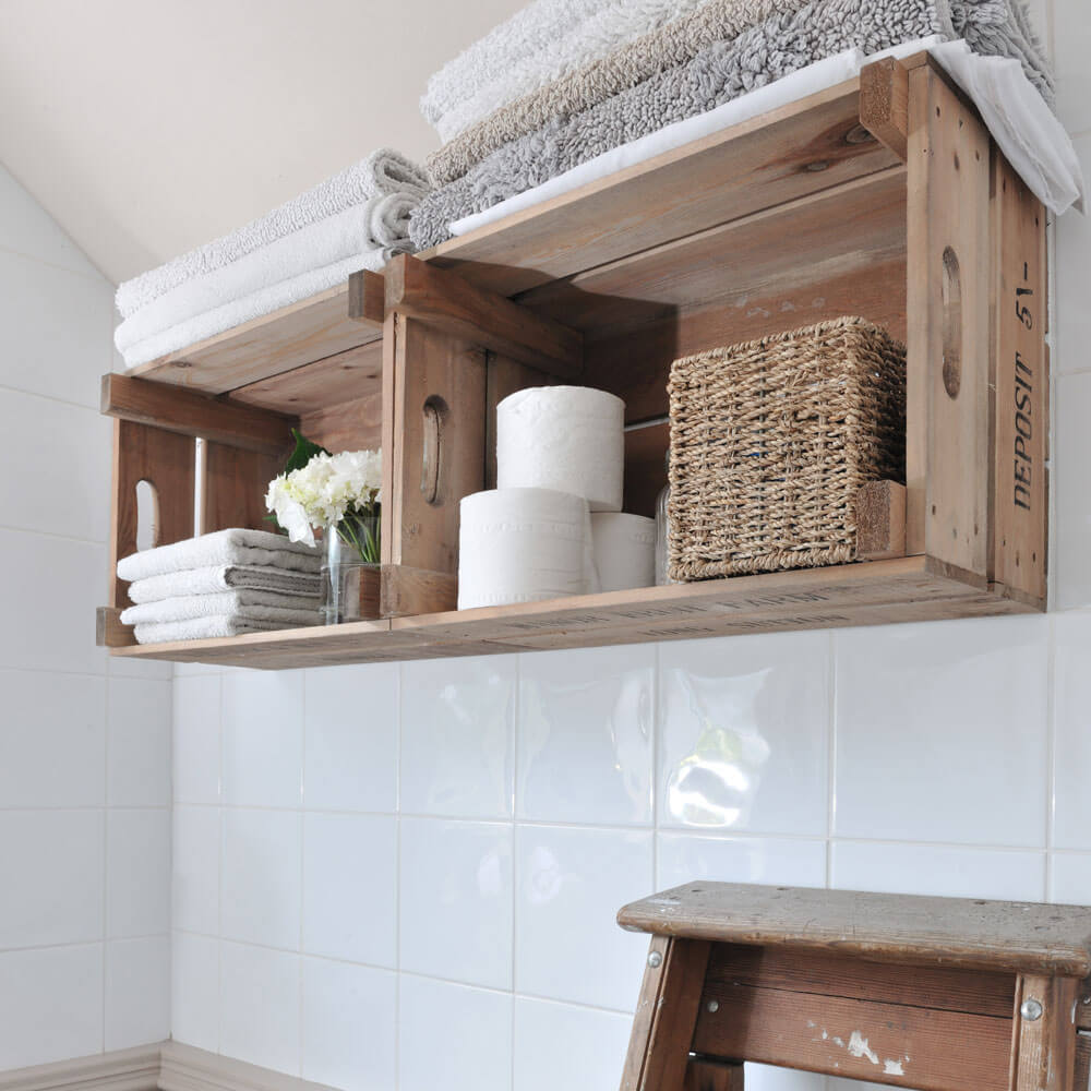 Wall-mounted Storage Shelves from Crate