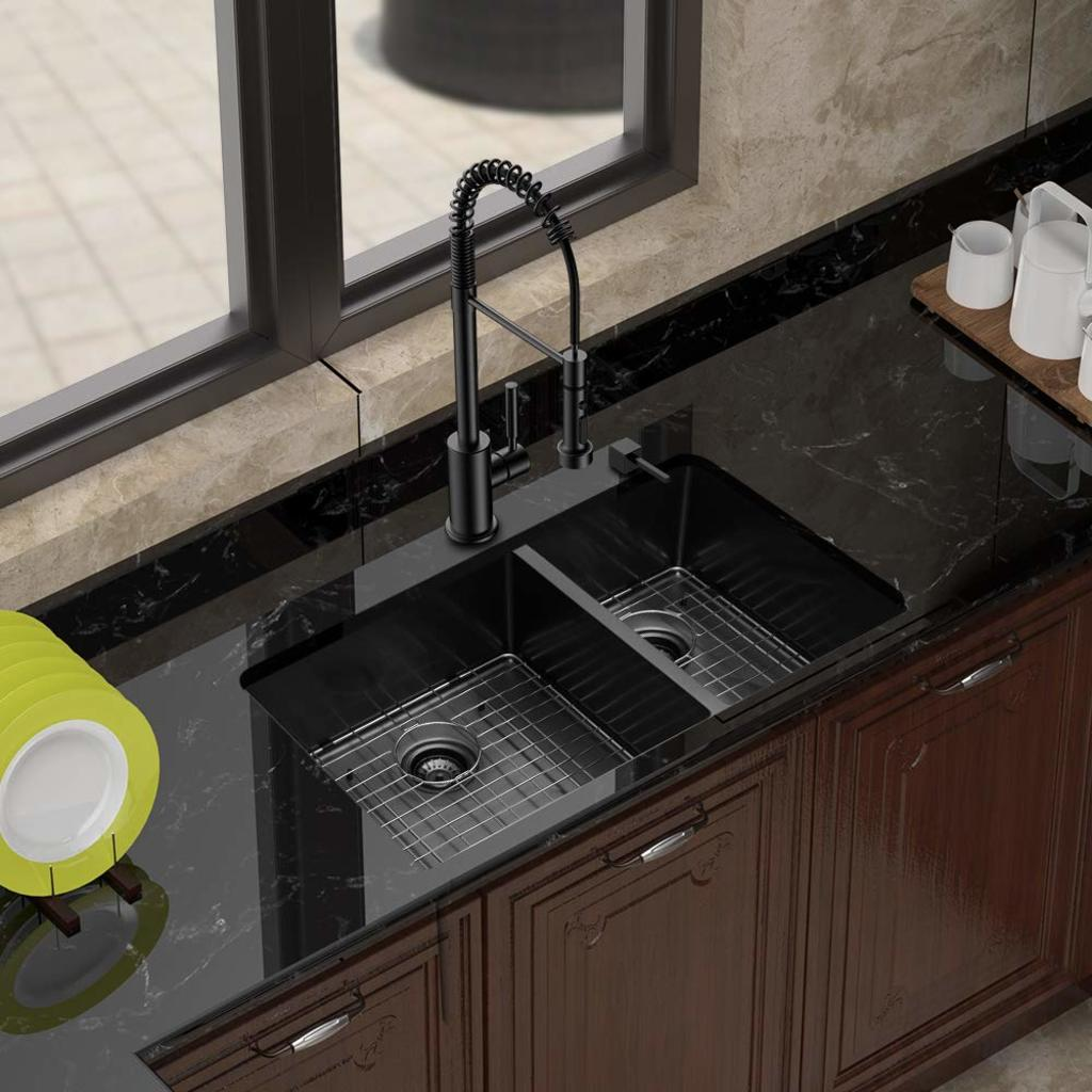 black kitchen sink