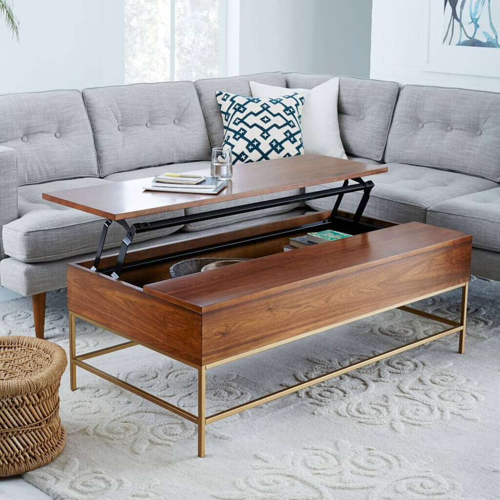 modern coffee table with storage