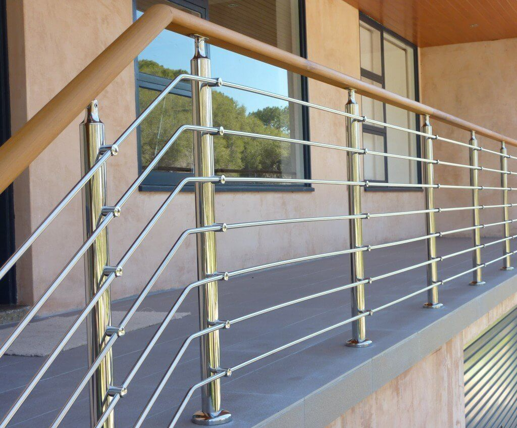 railing design for house: Zigzag Stainless-Steel Railing